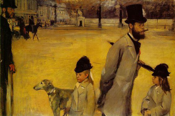 Edgar Degas, Place de la Concorde 1875