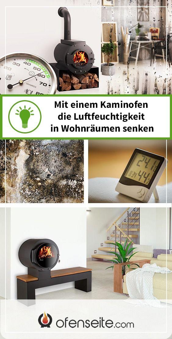 Wie Sie Mit Einem Kaminofen Die Luftfeuchtigkeit In Wohnraumen Senken In 2020 Kaminofen Schwimmendes Regal Kamin