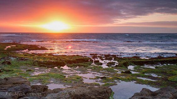 Sunset @Shelley beach Warrnambool #destinationwarrnambool by janetmckinnon
