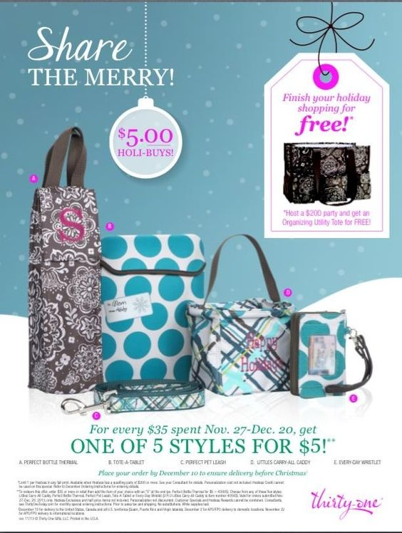 Hurry time is running out! Order now!!! Www.mythirtyone.com/AngelaWillson