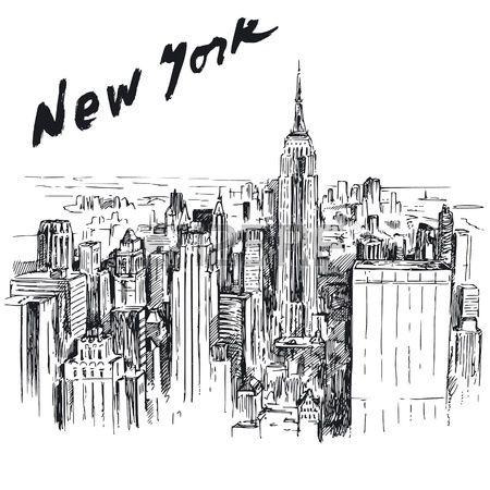 Nueva York ilustraci n dibujados a mano Foto de archivo