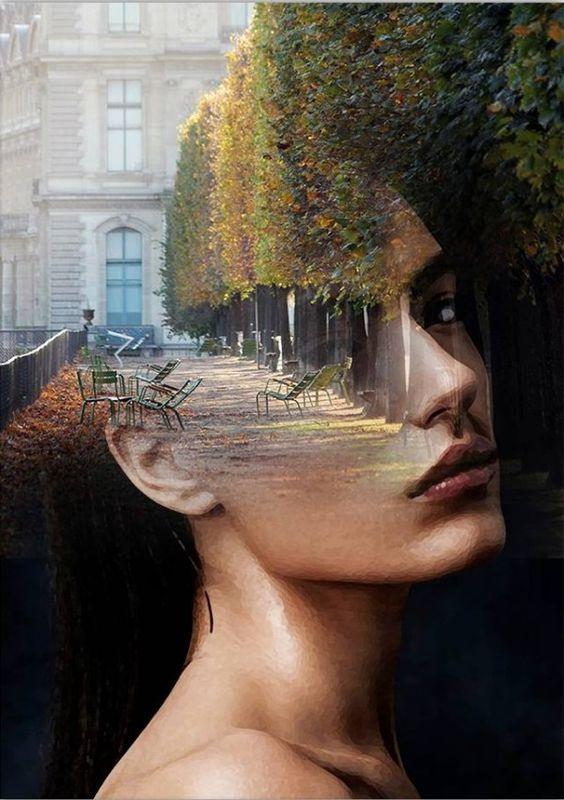 Antonio Mora (España): Retratos con dobles exposiciones, simluando estados mentales.