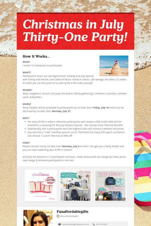 Thirty One Christmas In July 2020 Christmas in July Thirty One Party! #thirtyoneparty #thirty #one