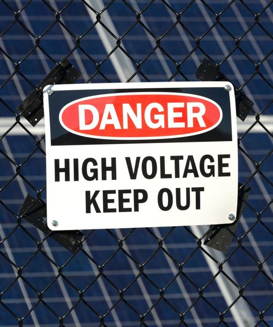 Stay Away From Electrical Equipment Substations Power