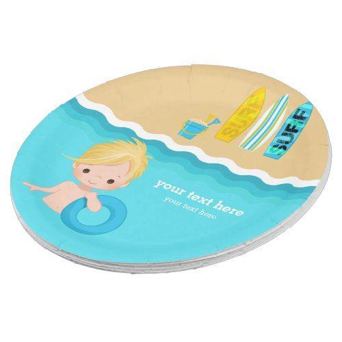 Beach Party Paper Plate Zazzle Com Kids Birthday Party