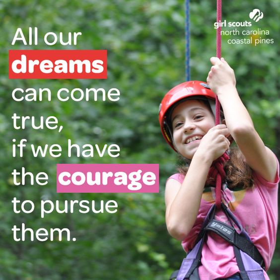 Climb new heights and soar through the clouds, Girl Scouts. Have the courage to purse your dreams! #SundayInspiration