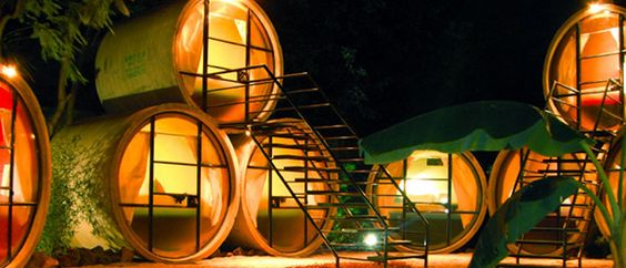 """""""The Tubo Hotel is one of the world's most unique hotels, and is located in the mountains 45 minutes south of Mexico City on the outskirts of the remote village of Tepoztlan, Morelos."""":"""