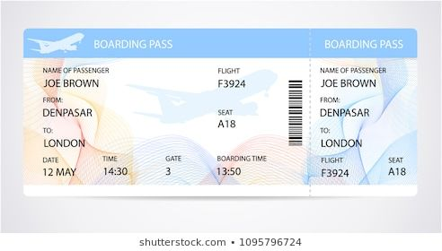 Boarding Pass Ticket Traveler Check Template With Aircraft