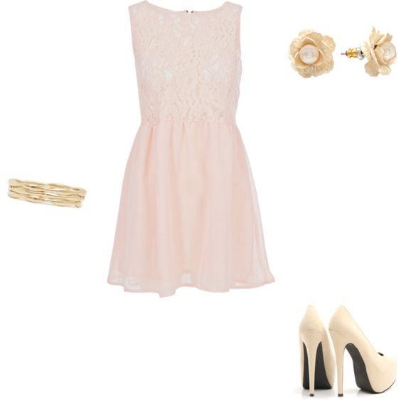 my first polyvore creation, just for fun. wear to a summer wedding??