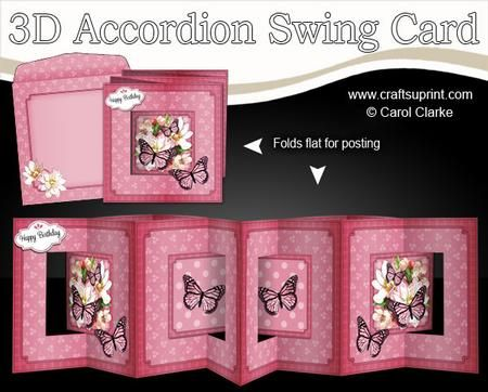 NEW TEMPLATE** 6 sheets in the kit Accordian Card Layers Swing