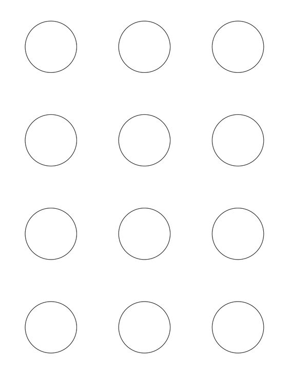 Circles good ideas and patterns on pinterest for Macaron baking sheet template