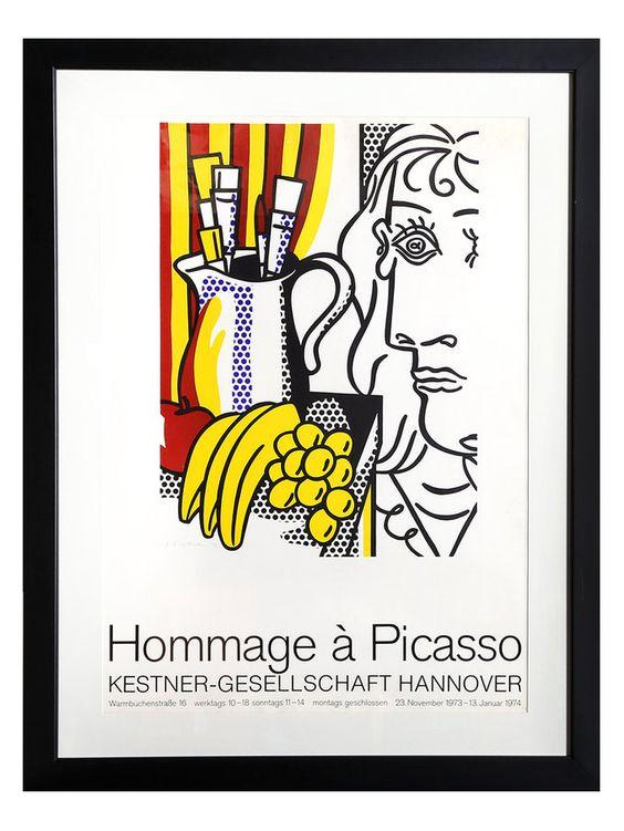 Homage to Picasso by Roy Lichtenstein (Poster) from Pop Art Icons: Warhol, Lichtenstein & More on Gilt
