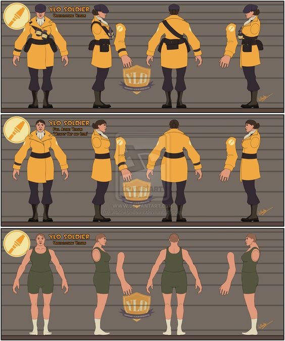 TF2 YLO Soldier Character Sheet - full set by vickie-believe.deviantart.com on @deviantART