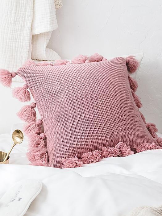 knitted cushions sofa throw pillows