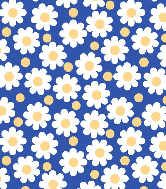 Easy Wash & Care - Daisy Yellow Blue Poly Cotton