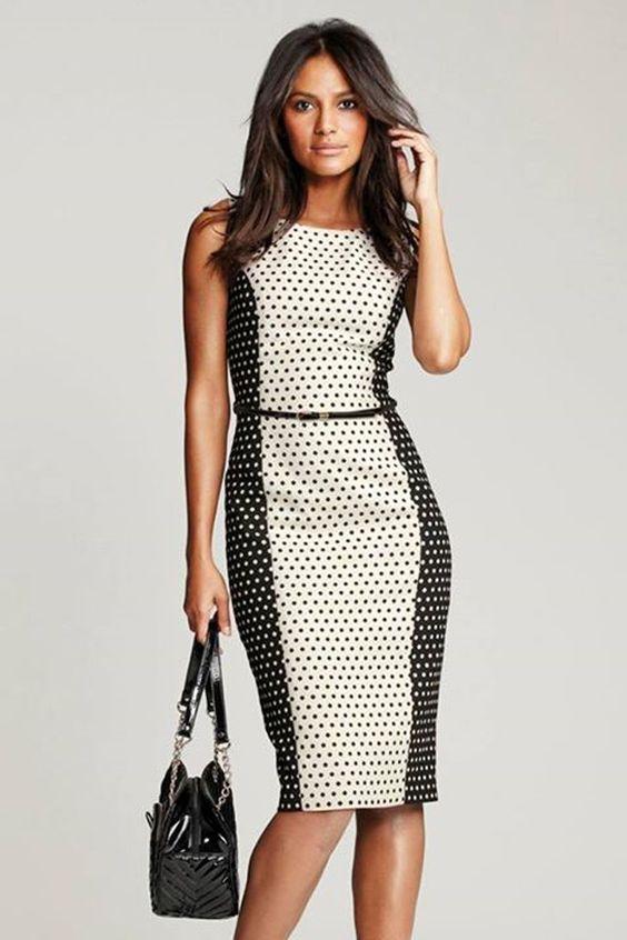 Opciones de vestidos a la rodilla para el trabajo Hola Chicas, aquí les dejo algunas