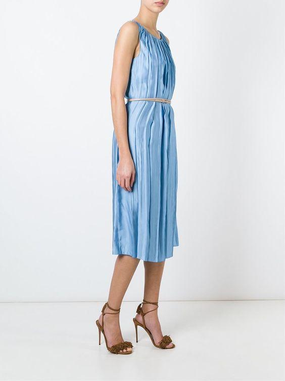 #ninaricci #dress #silk #midi #pastelblue #women #fashion www.jofre.eu