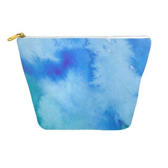 Blue Watercolor Dopp Kits