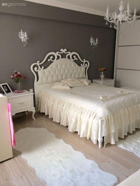 Gri Yatak Odasi Shabby Chic Bedrooms Home Room Design Chic