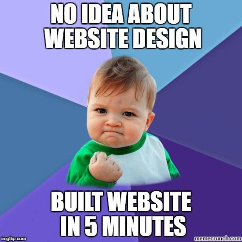 Funny Meme about Website