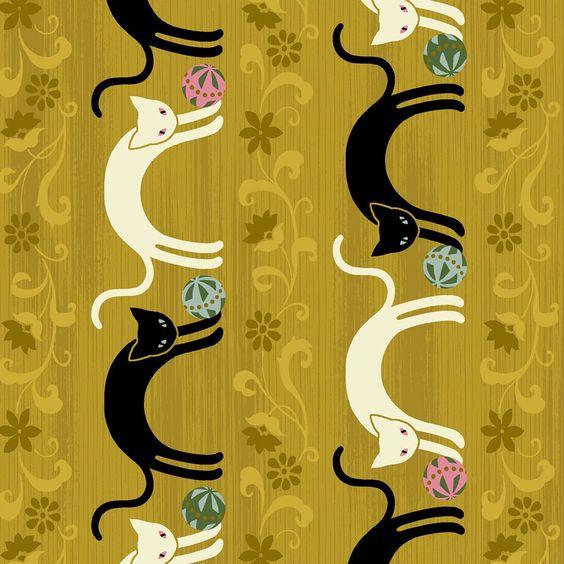 Hyakka Ryoran Neko - Cat Stripe - Gold - Feline Drive