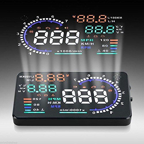 Mannot Racing - A8 Car HUD Head Up Display OBDII Interface KM/h MPH Speeding Warning Safety