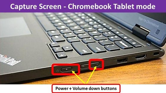 Chromebook Tablet Mode Using The Side Buttons To Capture Screen Chromebook Screen Tablet