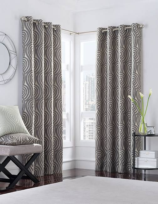 Extra long ready-made curtains in 108