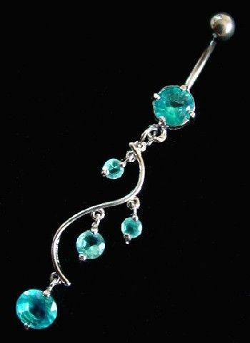 belly button rings dangle - Google Search