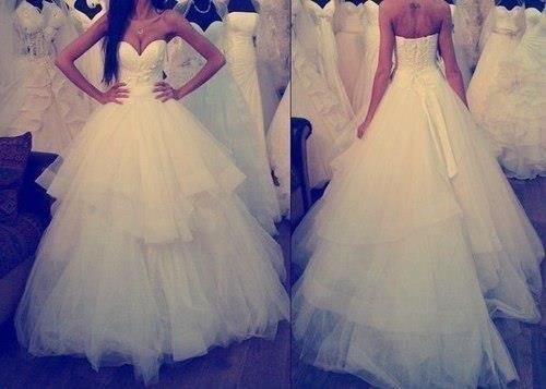 Wedding dress [front and back]