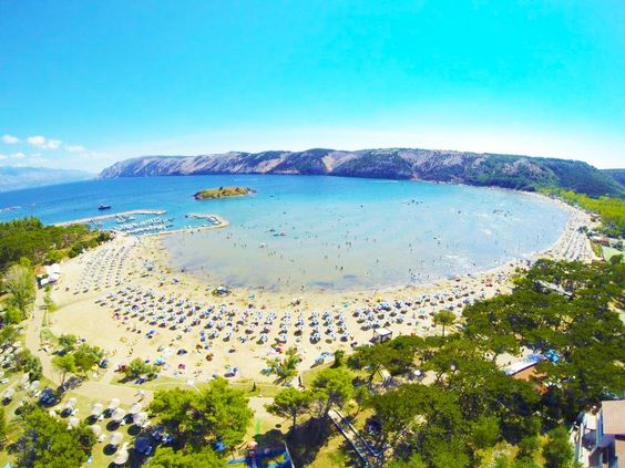 Paradise Beach Rajska, Isla de Rab, Croacia