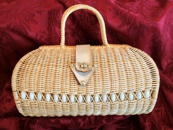 Vintage Wicker Purse:
