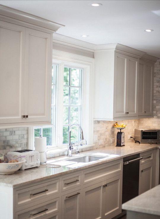 John Johnstone Kitchen And Bath Kitchens Ceiling Height Upper Cabinets Contempor White Kitchen Design Backsplash For White Cabinets Kitchen Cabinets Decor