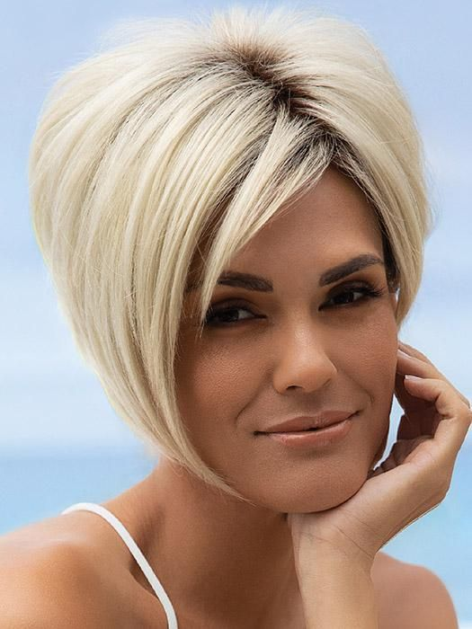 SUSANNE by RENE OF PARIS in Champagne-R   Rooted Dark with Platinum Blonde