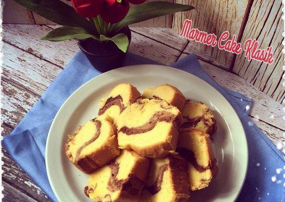 Resep Marmer Cake Klasik Oleh Ibu Malka Resep Makanan Dan Minuman Kue Zebra Makanan
