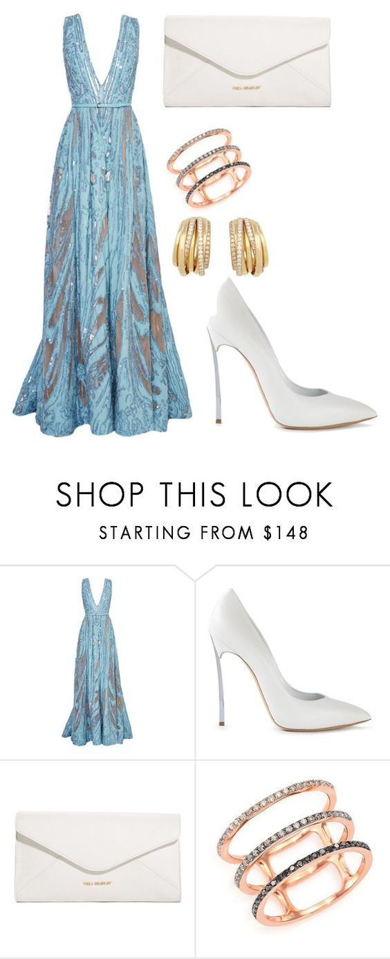 """Untitled #380"" by gigi3646 ❤ liked on Polyvore featuring Elie Saab, Casadei, Vera Bradley, EF Collection and de Grisogono"