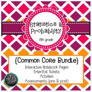 Statistics \ Probability Common Core Unit {grade 8} - statistics worksheet