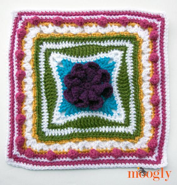 Free Crochet Pattern On Moogly : Block #9 in the Moogly 2015 Afghan CAL! Free #crochet ...