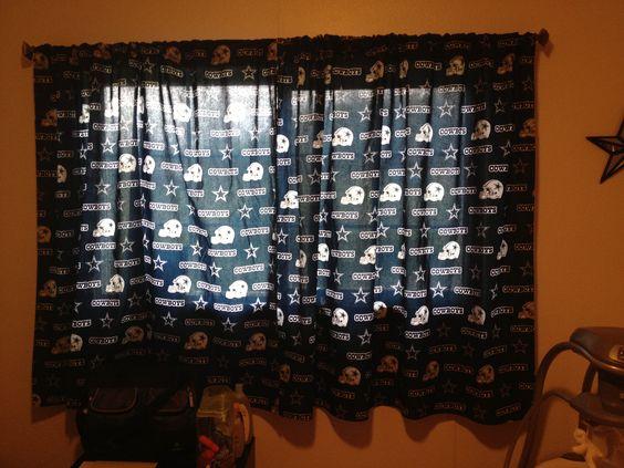 ... and more dallas cowboys pin it homemade dallas cowboys curtains home