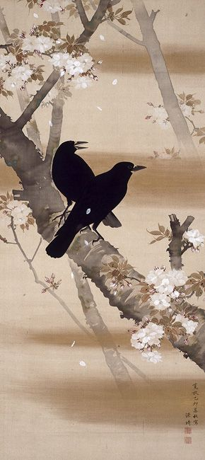 Crows and Cherry Blossoms, 1795 - Komai Genki (1747–1797) Japan: