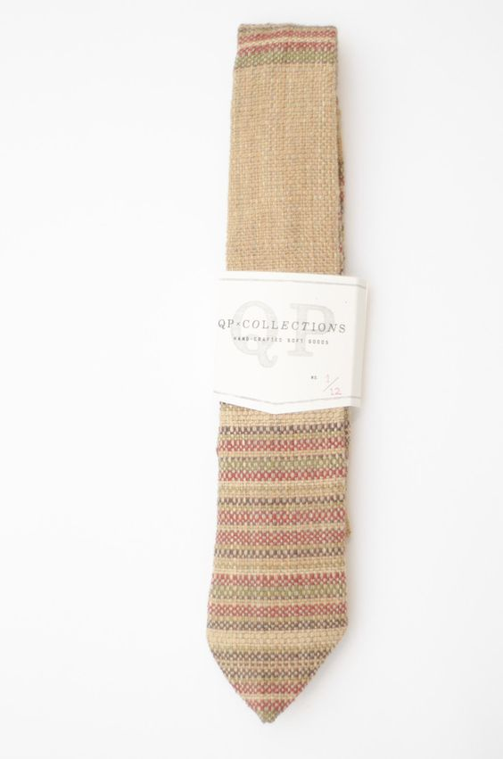 earth tone necktie handmade from vintage fabric $68
