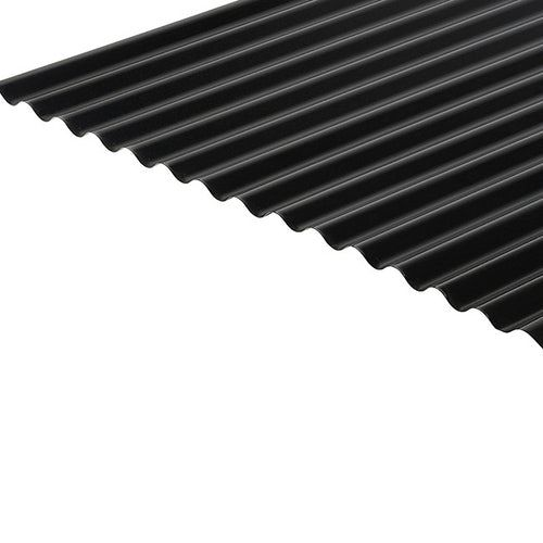 Cladco Corrugated 13 3 Profile 0 7mm Pvc Plastisol Coated Roof Sheet Anthracite Ral7016 Roofing Superstore In 2020 Roofing Sheets Corrugated Roofing Supplies