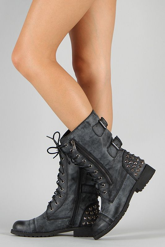 Spiffy your look with this vintage-inspired combat boots