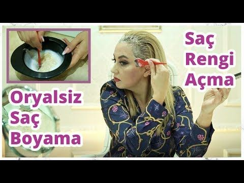Sac Boyama Ve Oryalsiz Evde Sac Boyama Sac Rengi Acma Youtube Sac Sac Rengi Sari Sac Boyalari