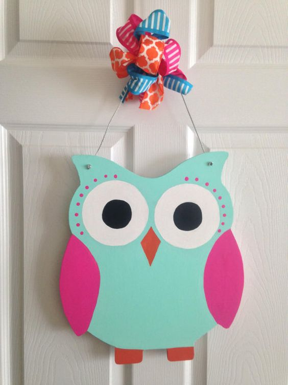 Owl Door Hanger by TLsCreativeCreations on Etsy