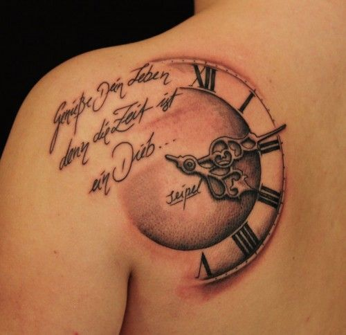 Downloadable German Tattoo Sayings: German Quote..Enjoy Ur Life Cos Time Is A Thief