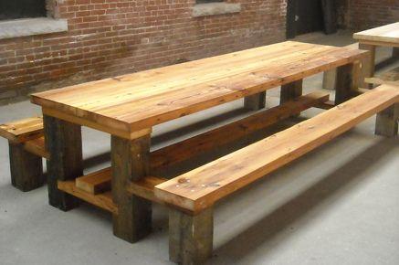 Restaurant Picnic Table.Reclaimed Wood.Hemlock Copy | Picnic Tables,  Picnics And Restaurants