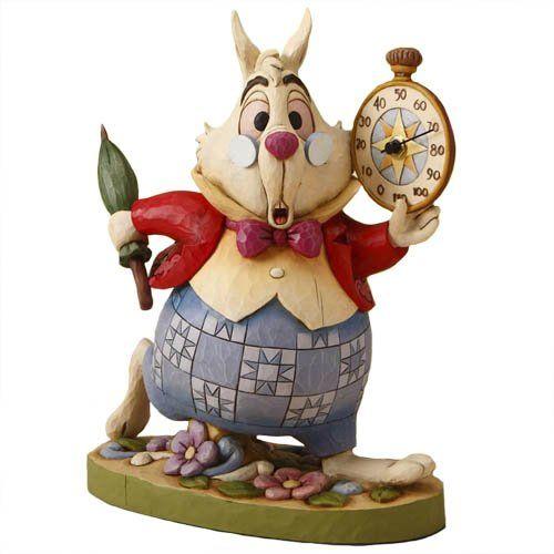 Disney tradition by jim shore figurine lapin blanc alice au pays des merve - Maison alice au pays des merveilles ...