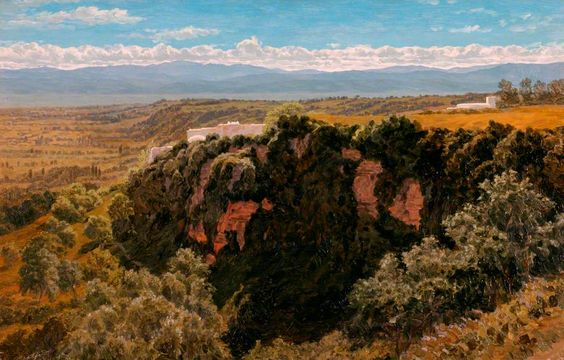 BBC - Your Paintings - Wooded Cliff near Algiers