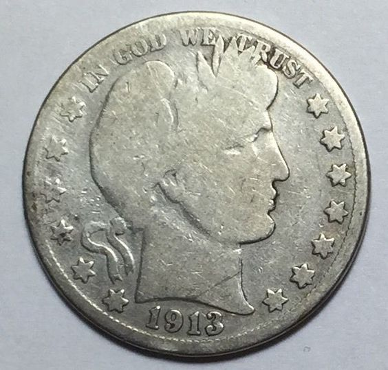 90% Silver 1913-S Barber Half Dollar. Take a LOOK!